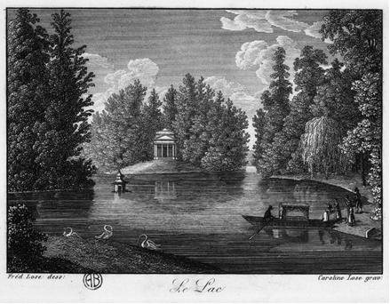 Carolina Lose, Le Lac, incisione del 1827